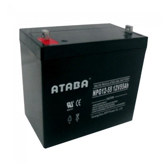 ATABA AGM 12V 55Ah - описания, отзывы, подробная характеристика