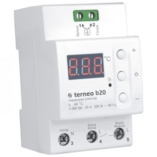 Terneo b20 - терморегулятор - описания, отзывы, подробная характеристика
