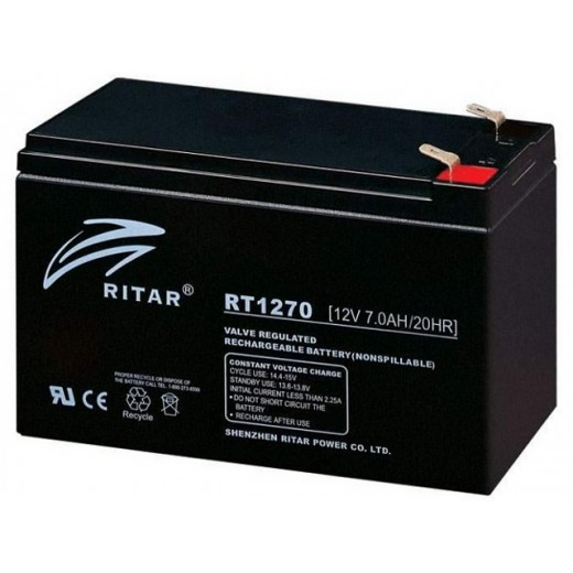 12V 7Ah Ritar Power RT1270E - описания, отзывы, подробная характеристика