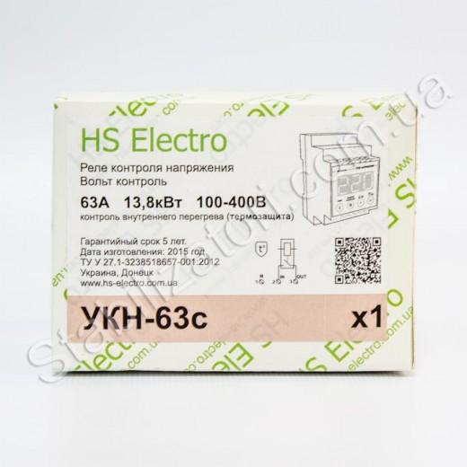 HS-Electro УКН-63с ( термозащита ) - реле напряжения - описания, отзывы, подробная характеристика