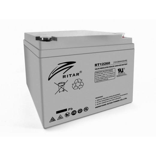 RITAR RT12260, 12V 26.0Ah - описания, отзывы, подробная характеристика