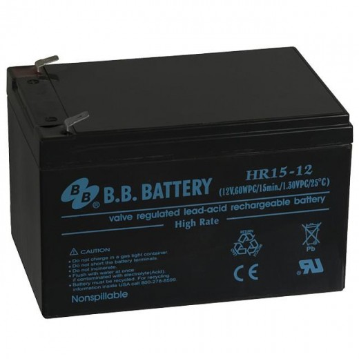 BB Battery HR15-12/T2 - описания, отзывы, подробная характеристика