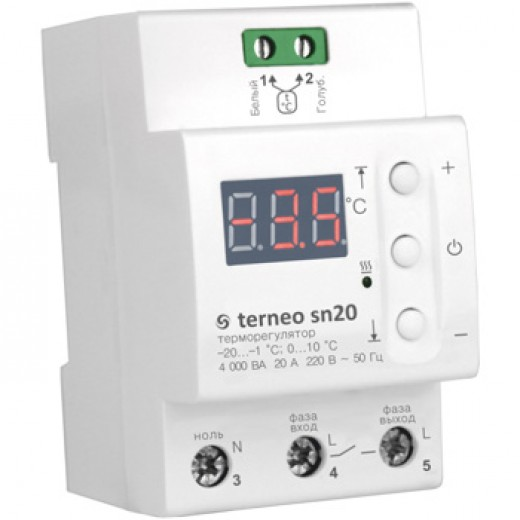 Terneo sn20 - терморегулятор - описания, отзывы, подробная характеристика