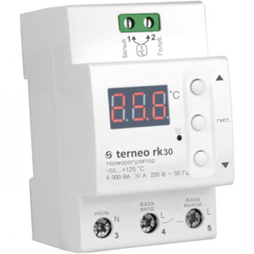 Terneo rk30 - терморегулятор - описания, отзывы, подробная характеристика