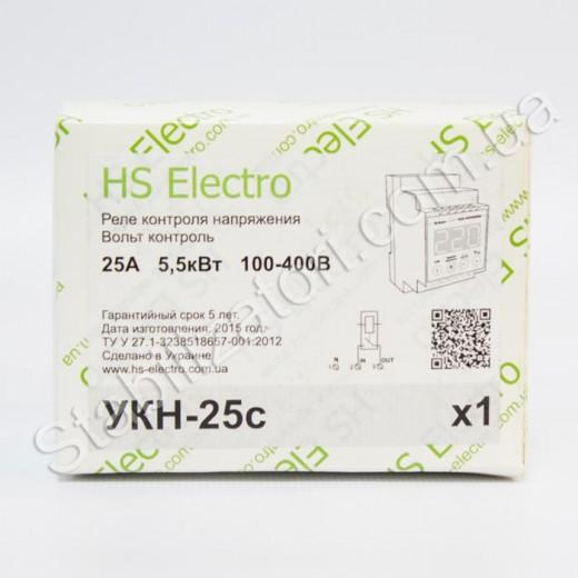 HS-Electro УКН-25с - реле напряжения - описания, отзывы, подробная характеристика