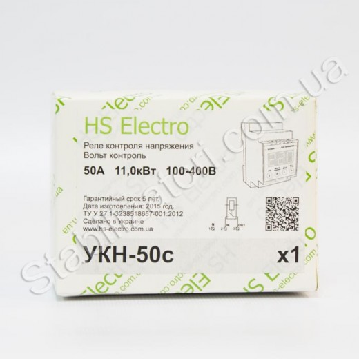 HS-Electro УКН-50с - реле напряжения - описания, отзывы, подробная характеристика
