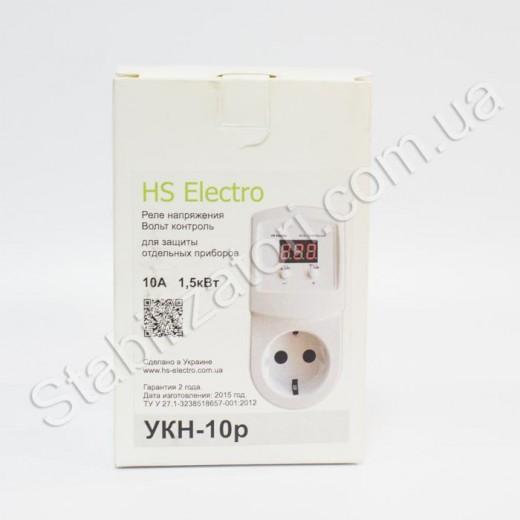 HS-Electro УКН-10р ( в розетку )- реле напряжения - описания, отзывы, подробная характеристика