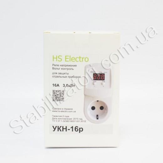 HS-Electro УКН-16р ( в розетку )- реле напряжения - описания, отзывы, подробная характеристика
