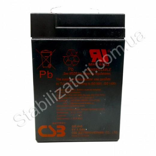CSB GP645, 6V 4.5Ah - описания, отзывы, подробная характеристика